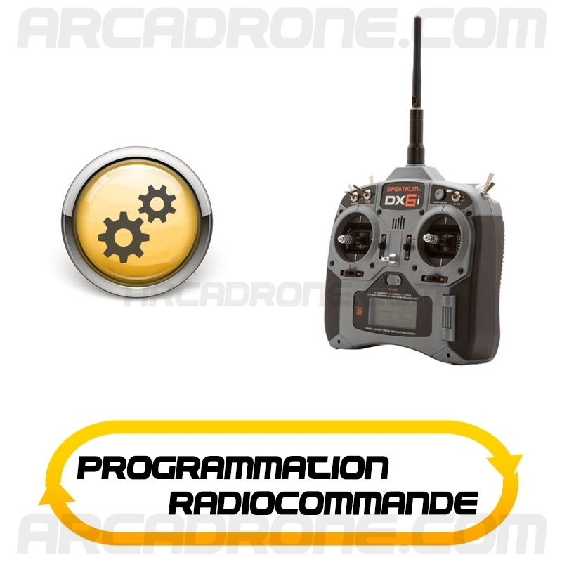 programmation radiocommande arcadrone. Black Bedroom Furniture Sets. Home Design Ideas