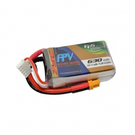 BATTERIE LIPO EPS 4S 630 mAh 75C TOP RACING EDITION XT30