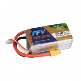 BATTERIE LIPO EPS 4S 1300 mAh 75C TOP RACING EDITION XT60