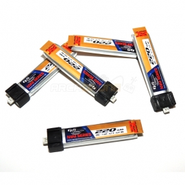 5 BATTERIES LIPO 1S 220 mAh 25C MCX EPS