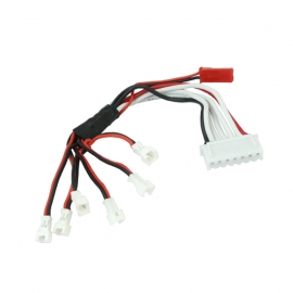 CABLE DE CHARGE POUR 6 LIPO 1S NANO QX INDUCTRIX RAKONHELI