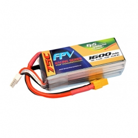 BATTERIE LIPO EPS 4S 1600 mAh 75C TOP RACING EDITION XT60